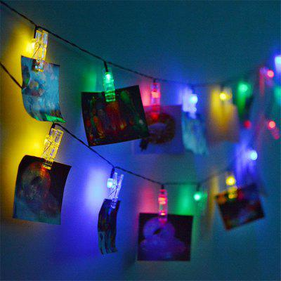 LED 20pcs-Clipes Corda de Luz Colorida Decorativas