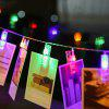 LED 20pcs-Clips Light String Color Lights Decorative Lights - WHITE