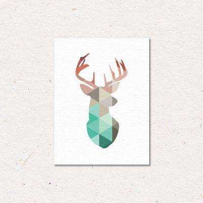 Color Elk Painting Printing Canvas Wall Decor for Home Decoration