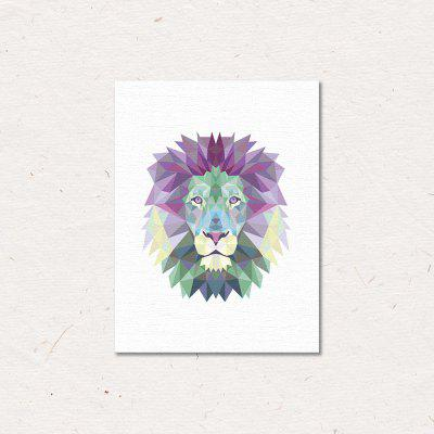Geometric Lion Painting Printing Canvas Wall Home Decoration