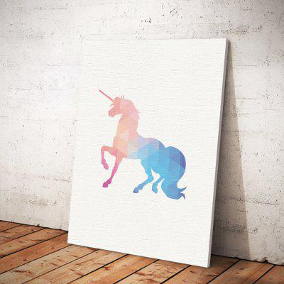 Unicorn  Painting Printing Canvas Wall Decor for Home DecorationPrints<br>Unicorn  Painting Printing Canvas Wall Decor for Home Decoration<br><br>Craft: Print<br>Form: One Panel<br>Material: Canvas<br>Package Contents: 1 x Printing<br>Package size (L x W x H): 30.00 x 4.00 x 4.00 cm / 11.81 x 1.57 x 1.57 inches<br>Package weight: 0.0400 kg<br>Painting: Without Inner Frame<br>Product size (L x W x H): 40.00 x 30.00 x 0.10 cm / 15.75 x 11.81 x 0.04 inches<br>Product weight: 0.0350 kg<br>Shape: Vertical<br>Style: Fashion<br>Subjects: Abstract<br>Suitable Space: Bedroom,Cafes,Kids Room,Kids Room,Living Room,Office,Study Room / Office