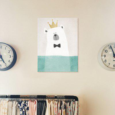 Polar Bear Painting Printing Canvas Wall Decor for Home DecorationPrints<br>Polar Bear Painting Printing Canvas Wall Decor for Home Decoration<br><br>Craft: Print<br>Form: One Panel<br>Material: Canvas<br>Package Contents: 1 x Printing<br>Package size (L x W x H): 30.00 x 4.00 x 4.00 cm / 11.81 x 1.57 x 1.57 inches<br>Package weight: 0.0400 kg<br>Painting: Without Inner Frame<br>Product size (L x W x H): 40.00 x 30.00 x 0.10 cm / 15.75 x 11.81 x 0.04 inches<br>Product weight: 0.0350 kg<br>Shape: Vertical<br>Style: Fashion<br>Subjects: Cartoon<br>Suitable Space: Bedroom,Boys Room,Dining Room,Girls Room,Kids Room,Kids Room,Study Room / Office