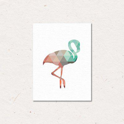Colorful Flamingo Painting Printing Canvas Wall Home Decoration