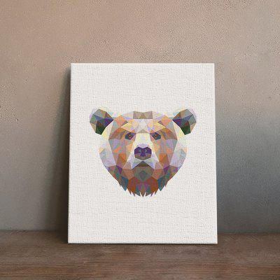 Bear Painting Printing Canvas Wall Decor for Home Decoration