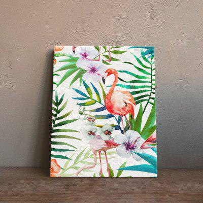 Plant Flamingo Painting Printing Canvas Wall Home Decoration