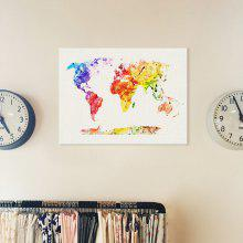 Canvas world best deals online shopping gearbest 0off world map painting printing canvas wal home decoration gumiabroncs Choice Image