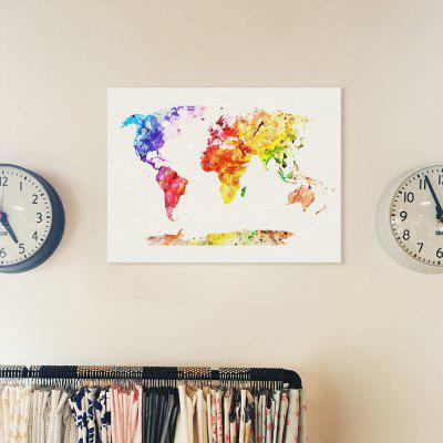 World Map Painting Printing Canvas Wal Home Decoration