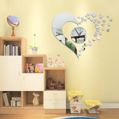 Decoration Maison Stickers Horloge Murale Miroir Acrylique Diy
