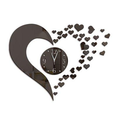 DIY Love Acrylic Mirror Wall Clock Stickers Home DecorClocks<br>DIY Love Acrylic Mirror Wall Clock Stickers Home Decor<br><br>Battery Quantity: 1<br>Battery Type: AA (not included)<br>Material: Plastic<br>Package Contents: 1 x Clock Sticker, 1 x Movement<br>Powered by: Battery<br>Shape: Novelty<br>Style: Contemporary, Fashion<br>Theme: Others<br>Time Display: Analog<br>Type: Wall Clock
