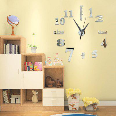 DIY Digit Acrylic Mirror Wall Clock Stickers Home DecorClocks<br>DIY Digit Acrylic Mirror Wall Clock Stickers Home Decor<br><br>Battery Quantity: 1<br>Battery Type: AA (not included)<br>Material: Plastic<br>Package Contents: 1 x Clock Sticker, 1 x Movement<br>Powered by: Battery<br>Shape: Round<br>Style: Contemporary, Fashion<br>Theme: Others<br>Time Display: Analog<br>Type: Wall Clock