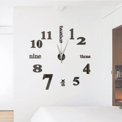 26%OFF DIY Digit Acrylic Mirror Wall Clock Stickers Home Decor Part 97