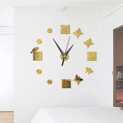 DIY  Butterfly Acrylic Mirror Wall Clock Stickers Home DecorClocks<br>DIY  Butterfly Acrylic Mirror Wall Clock Stickers Home Decor<br><br>Battery Quantity: 1<br>Battery Type: AA (not included)<br>Material: Plastic<br>Package Contents: 1 x Clock Sticker, 1 x Movement<br>Powered by: Battery<br>Shape: Round<br>Style: Contemporary, Fashion<br>Theme: Others<br>Time Display: Analog<br>Type: Wall Clock