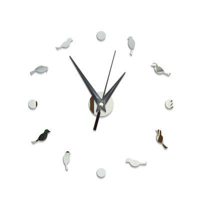 Modern DIY Bird Acrylic Mirror Wall Clock Stickers Home DecorClocks<br>Modern DIY Bird Acrylic Mirror Wall Clock Stickers Home Decor<br><br>Battery Quantity: 1<br>Battery Type: AA (not included)<br>Material: Plastic<br>Package Contents: 1 x Clock Sticker, 1 x Movement<br>Powered by: Battery<br>Shape: Round<br>Style: Contemporary, Fashion<br>Theme: Animals<br>Time Display: Analog<br>Type: Wall Clock