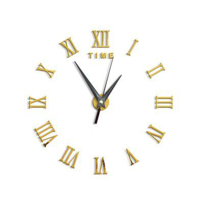 DIY Roman Numerals Acrylic Mirror Wall Clock Stickers Home DecorClocks<br>DIY Roman Numerals Acrylic Mirror Wall Clock Stickers Home Decor<br><br>Battery Quantity: 1<br>Battery Type: AA (not included)<br>Material: Plastic<br>Package Contents: 1 x Clock Sticker, 1 x Movement<br>Powered by: Battery<br>Shape: Round<br>Style: Contemporary, Fashion<br>Theme: Others<br>Time Display: Analog<br>Type: Wall Clock
