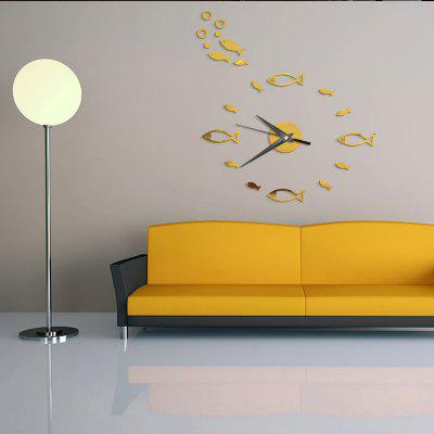 DIY Cartoon  Fish Acrylic Mirror Wall Clock Stickers Home DecorClocks<br>DIY Cartoon  Fish Acrylic Mirror Wall Clock Stickers Home Decor<br><br>Battery Quantity: 1<br>Battery Type: AA (not included)<br>Material: Plastic<br>Package Contents: 1 x Clock Sticker, 1 x Movement<br>Powered by: Battery<br>Shape: Novelty<br>Style: Contemporary, Fashion<br>Theme: Animals<br>Time Display: Analog<br>Type: Wall Clock