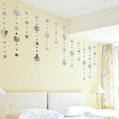 DIY Christmas Snowflakes Mirror Wall Stickers for Wall Decor