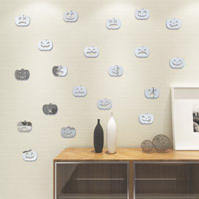 Buy SILVER 100pcs Small Pumpkin Halloween Mirror Wall Stickers for Wall Decor for $7.50 in GearBest store