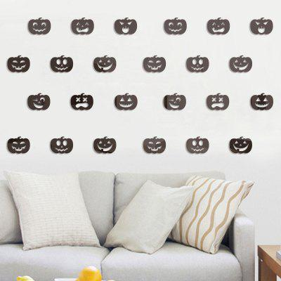 100pcs Small Pumpkin Halloween Mirror Wall Stickers for Wall Decor