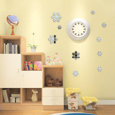 Christmas DIY  Snowflakes Mirror Wall Stickers for Wall Decor