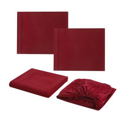 4pcs Fashion Solid Color Soft Fiber Bedding Set VA0012QBedding Sets<br>4pcs Fashion Solid Color Soft Fiber Bedding Set VA0012Q<br><br>Package Contents: 2 x Pillowcase, 1 x Flat Sheet, 1 x Fitted Sheet<br>Package size (L x W x H): 29.00 x 22.00 x 9.00 cm / 11.42 x 8.66 x 3.54 inches<br>Package weight: 1.4000 kg<br>Pattern Type: Solid<br>Product size (L x W x H): 260.00 x 230.00 x 1.00 cm / 102.36 x 90.55 x 0.39 inches<br>Product weight: 1.2000 kg<br>Style: Fresh / Rural