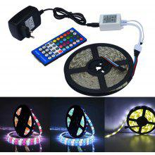 Jiawen Waterproof 5m 5050 RGBW LED Light Strip + Remote Controller + 12V 2A Power Supply RGB + White Indoor for Decoration
