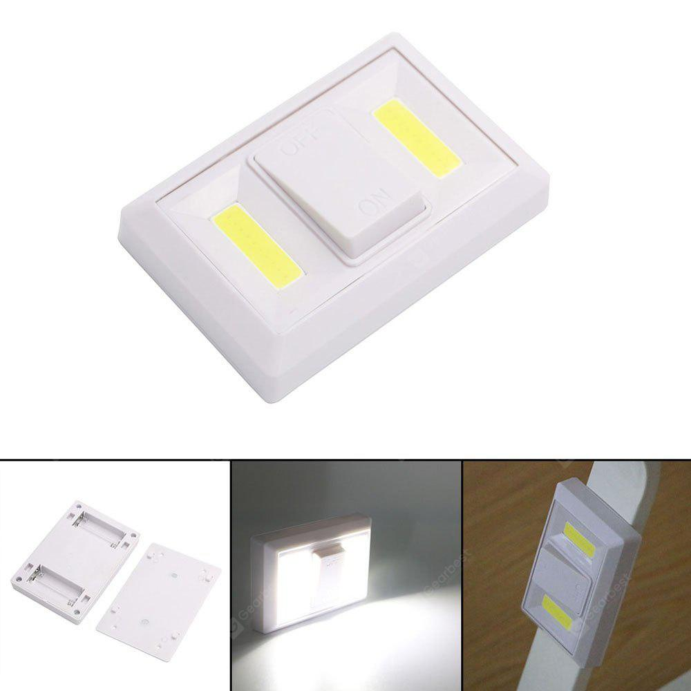 JIAWEN New Switch Light Lamp Double Dual COB Switch Night Light Bedroom Bathroom Wardrobe Closet Home Light Super Bright Emergency Lamp