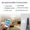 WiFi Wall Touch Light Switch 1 gang ON / Off Wireless Remote Control Timing Switch Remote Home Automation - WHITE AND BLACK