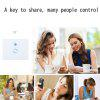 Touch Wall Wifi Light Switch US Intelligent Glass Panel Smart Home Wireless Remote Control Via Phone AC90-250V - WHITE AND BLACK