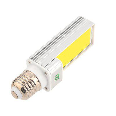 1PCS WXLight E27 7W COB LED Corn Light Horizontal Plug AC 85 - 265VCorn Bulbs<br>1PCS WXLight E27 7W COB LED Corn Light Horizontal Plug AC 85 - 265V<br><br>Angle: 180 Degrees<br>Available Light Color: Cold White,Warm White<br>Brand: YWXLight<br>CCT/Wavelength: 2700-3200K,6000-6500K<br>Emitter Types: COB<br>Features: Low Power Consumption, Long Life Expectancy, Instant Full Light, Energy Saving<br>Function: Home Lighting, Studio and Exhibition Lighting, Commercial Lighting<br>Holder: E27<br>Lifespan: &gt;30000 Hours<br>Luminous Flux: 700-800 LM<br>Output Power: 7W<br>Package Contents: 1 x YWXLight E27 Horizontal Plug Lamp<br>Package size (L x W x H): 13.50 x 4.00 x 4.00 cm / 5.31 x 1.57 x 1.57 inches<br>Package weight: 0.1160 kg<br>Product size (L x W x H): 12.00 x 3.50 x 3.50 cm / 4.72 x 1.38 x 1.38 inches<br>Product weight: 0.0840 kg<br>Sheathing Material: Aluminum<br>Total Emitters: 1 LED<br>Type: Horizontal Plug Lamp<br>Voltage (V): AC 85-265<br>Wattage Range: 5-10W