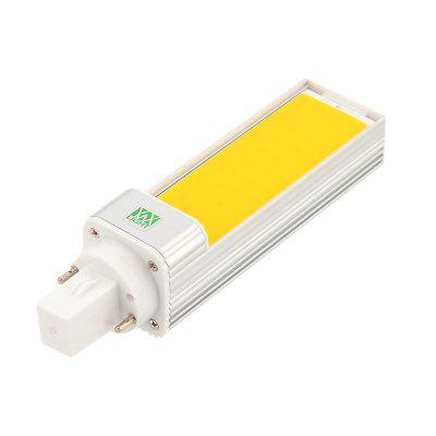 YWXLight G24 9W Super Bright Lights COB LED Bulbs Horizontal Plug Lamps AC 85 - 265VLED Bi-pin Lights<br>YWXLight G24 9W Super Bright Lights COB LED Bulbs Horizontal Plug Lamps AC 85 - 265V<br><br>Angle: 180 Degrees<br>Available Light Color: Cold White,Warm White<br>Brand: YWXLight<br>CCT/Wavelength: 2700-3200K,6000-6500K<br>Emitter Types: COB<br>Features: Low Power Consumption, Long Life Expectancy, Instant Full Light, Energy Saving<br>Function: Studio and Exhibition Lighting, Home Lighting<br>Holder: G24<br>Lifespan: &gt;30000 Hours<br>Luminous Flux: 800-900 LM<br>Output Power: 9W<br>Package Contents: 1 x YWXLight G24 Horizontal Plug Lamp<br>Package size (L x W x H): 15.50 x 4.00 x 4.00 cm / 6.1 x 1.57 x 1.57 inches<br>Package weight: 0.1220 kg<br>Product size (L x W x H): 14.00 x 3.50 x 3.50 cm / 5.51 x 1.38 x 1.38 inches<br>Product weight: 0.0990 kg<br>Sheathing Material: Aluminum<br>Total Emitters: 1 LED<br>Type: Horizontal Plug Lamp<br>Voltage (V): AC 85-265<br>Wattage Range: 5-10W