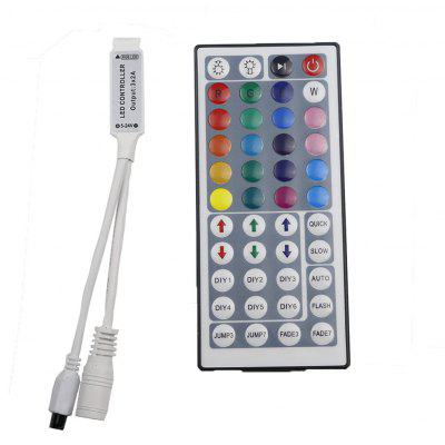 YWXLight 44 teclas Mini salida IR Remoto RGB Dimmer LED Strip Light Control