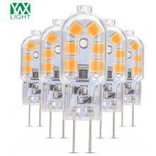 5PCS YWXLight G4 LED Lampe Lampada 360 Degree Transparent Shell DC 12V