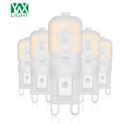 5PCS YWXLight G9 4W 14-LED LED Bi-pin Lights Blanc Leché Shell AC 110V