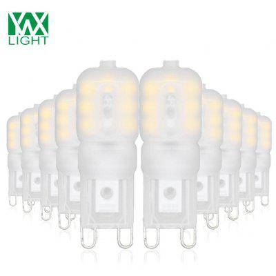 10PCS YWXLight G9 4W 14-LED LED Bi-pin Lights Blanc blanc laitier AC 220V
