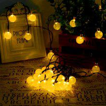 YWXLight 30-LED Outdoor Solar String Lights Crystal Ball Holiday Party Lights