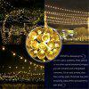 YWXLight 30-LED al aire libre Solar String luces de cristal de bolas Holiday Party Lights - BLANCO CáLIDO
