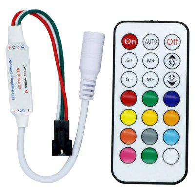 YWXLight WS2811 LED Strip Controller RGB Light With Remote Mini 21 Keys IR Control DC 5V
