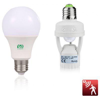 YWXLight E27 9W LED Light Bulbs Household Lighting Bulbs Human Body Induction AC 85 - 265V