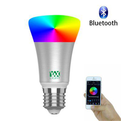 1PCS YWXLight Smart Bluetooth E27 RGB LED luz de música de iluminación colorida controlada AC 110 - 240V