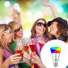 1PCS YWXLight Smart Bluetooth E27 RGB LED Light Music Controlled Colorful Lighting AC 110 - 240V - SILVER