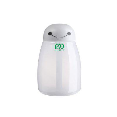 YWXLight Cartoon Night Lamp Humidifier Home Office Desktop USB Mini HumidifierNight Lights<br>YWXLight Cartoon Night Lamp Humidifier Home Office Desktop USB Mini Humidifier<br><br>Input Voltage: DC 5V<br>Material: PC<br>Optional Color: Pink,White,Blue<br>Optional Light Color: RGB<br>Package Contents: 1 x YWXLight Bulb Humidifier, 1 x YWXLight Cotton Stick<br>Package size (L x W x H): 13.50 x 8.50 x 8.50 cm / 5.31 x 3.35 x 3.35 inches<br>Package weight: 0.1150 kg<br>Power Supply: USB<br>Product size (L x W x H): 13.00 x 8.30 x 5.50 cm / 5.12 x 3.27 x 2.17 inches<br>Product weight: 0.0680 kg<br>Type: Night Light