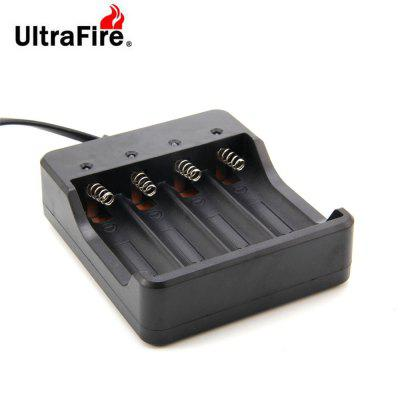 UltraFire HD - 077B 18650 Battery 4-slot Charger AC 100-240V US RegulationChargers<br>UltraFire HD - 077B 18650 Battery 4-slot Charger AC 100-240V US Regulation<br><br>Charging Cell Qty: 4<br>Charging Cell Type: Ni-MH, Lithium, Lithium Ion, NiCd<br>Compatible: 18650<br>Input Current: 47/63HZ<br>Input Voltage: AC 100-240V<br>Model: HD-077B<br>Output Current: 1200mA<br>Output Voltage: DC4.2V<br>Package Contents: 1 x Charger<br>Package size (L x W x H): 13.00 x 13.50 x 4.00 cm / 5.12 x 5.31 x 1.57 inches<br>Package weight: 0.1300 kg<br>Plug: US adapter<br>Product size (L x W x H): 8.80 x 10.30 x 2.80 cm / 3.46 x 4.06 x 1.1 inches<br>Product weight: 0.1100 kg<br>Type: Charger