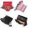 TODO 24pcs High Quality Micro Fiber Makeup Brushes - RED