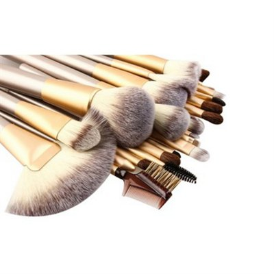 TODO 24pcs Professional Champagne Color Makeup Brushes Classic Wood HandleMakeup Brushes &amp; Tools<br>TODO 24pcs Professional Champagne Color Makeup Brushes Classic Wood Handle<br><br>Brush Material: Goat Hair, Horse<br>Category: Blush Brush,Blusher,Brow Brush,Concealer Brush,Contour Brush,Eyelash Brush,Eyeshadow Brush,Fan Brush,Foundation Brush,Lip Brush,Liquid Eyeliner Brush,Other Brush<br>For: Eye, Lip, Face<br>Handle Material: Metal, Wood<br>Package Contents: 1 x Set of Makeup Brush<br>Package Size(L x W x H): 25.50 x 16.00 x 5.00 cm / 10.04 x 6.3 x 1.97 inches<br>Package weight: 0.5000 kg<br>Product Size  ( L x W x H ): 60.00 x 25.50 x 3.00 cm / 23.62 x 10.04 x 1.18 inches<br>Product weight: 0.4800 kg<br>Quantity range (pcs): 21-30<br>Type: Brush set