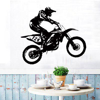 YEDUO Motorcycle Racing Driver Vinyl Decorative Wall Sticker Home Decor