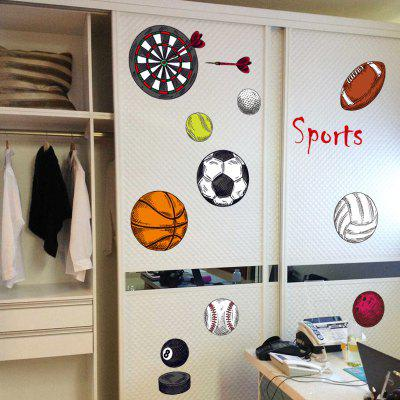 YEDUO Sport Ball Removable Wall Sticker Decorative Creative Art DecorationWall Stickers<br>YEDUO Sport Ball Removable Wall Sticker Decorative Creative Art Decoration<br><br>Function: Decorative Wall Sticker<br>Material: Vinyl(PVC)<br>Package Contents: 1 x Wall Sticker<br>Package size (L x W x H): 60.00 x 5.00 x 5.00 cm / 23.62 x 1.97 x 1.97 inches<br>Package weight: 0.1200 kg<br>Product size (L x W x H): 102.00 x 60.00 x 0.30 cm / 40.16 x 23.62 x 0.12 inches<br>Product weight: 0.1100 kg<br>Quantity: 1<br>Subjects: Sports<br>Suitable Space: Bedroom,Boys Room,Kids Room,Kids Room,Living Room<br>Type: Plane Wall Sticker