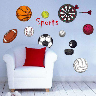 YEDUO Sport Ball Removable Wall Sticker Decorative Creative Art Decoration