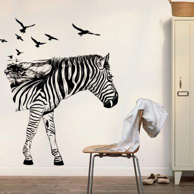 YEDUO Zebra 3D Stereo Hallway Wall Stickers Creative Home Decoration