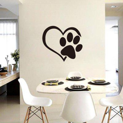 YEDUO Reflective Heart Paw Vinyl Car Wall Sticker