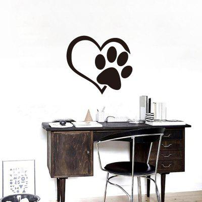 YEDUO Reflective Heart Paw Vinyl Car Wall StickerWall Stickers<br>YEDUO Reflective Heart Paw Vinyl Car Wall Sticker<br><br>Function: Decorative Wall Sticker<br>Material: Vinyl(PVC)<br>Package Contents: 1 x Wall Sticker<br>Package size (L x W x H): 45.00 x 5.00 x 5.00 cm / 17.72 x 1.97 x 1.97 inches<br>Package weight: 0.1100 kg<br>Product size (L x W x H): 50.00 x 45.00 x 0.30 cm / 19.69 x 17.72 x 0.12 inches<br>Product weight: 0.0900 kg<br>Quantity: 1<br>Subjects: Abstract,Fashion,Figurative<br>Suitable Space: Bedroom,Boys Room,Girls Room,Kids Room,Kids Room,Living Room,Study Room / Office<br>Type: Plane Wall Sticker